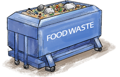 organic food waste is separated